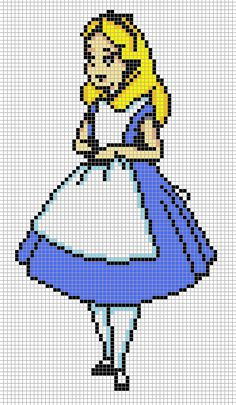 Alice by ~Hama-Girl on deviantART I don't know if she intended it but this would make a perfect cross stitch pattern.