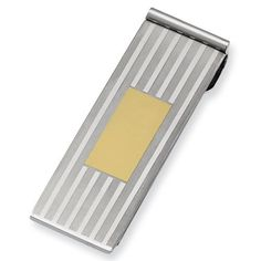 Stainless Steel Gold IPG-plated Money Clip