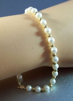 Vintage Michael Anthony 14k Gold Pearl by LynnHislopJewels on Etsy