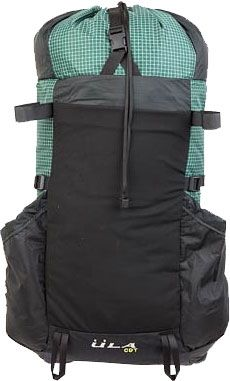 """backpack from ULA - """"The CDT is our lightest, most basic backpack. With nearly 50 liters of available space it is suitable for thru-hikes, dayhikes, and any distance backcountry forays. This is the only frameless pack we make and it is ideal for travel or lightweight hiking. The current CDT continues the tradition of being a reliable, lightweight, and durable backcountry companion."""" $135.00"""