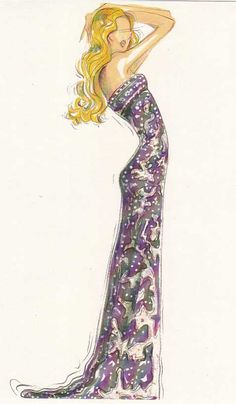 beautiful fashion illustration