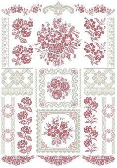 "SWEET FLOWERS Design Area: 19,64""W x 27,93""H (267 x 383 stitches) Archivo PDF vía email $25.00USD o 18€ http://aquarellebyangiedesigner.blogspot.com.ar/"