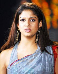 Nayanthara Latest Photos In Blue Saree - Tollywood Stars