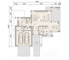 Two storey house in modern style with usable area House with a large garage. Minimum size of a plot needed for building a house is m. Balcony Doors, Two Storey House, Home Catalogue, Reinforced Concrete, House Drawing, Design Case, Types Of Houses, Interior Walls, Ground Floor