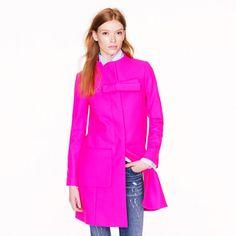 j crew hot pink coat