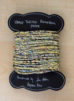 Hand Twisted Yarns and Twines by Louise S. Handmade without tools using a traditional cord making method. For creative and decorative string uses. Spinning Yarn, Book Pages, Twine, Handmade Items, Hands, Paper, Creative, Yarn Crafts