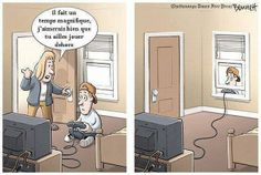 Funny pictures about Go outside and play. Oh, and cool pics about Go outside and play. Also, Go outside and play photos. Funny Cartoons, Funny Comics, Funny Jokes, Gamer Jokes, Funny Troll, Funny Humour, Meme Internet, Video Game Addiction, Spanish Jokes