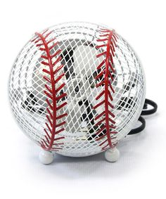 Take a look at this White Cool Winds Baseball Fan by Exhart on #zulily today! @Erika Phillips for Cooper's room!