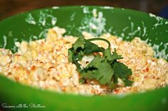 Bread & Wine author Shauna Niequist revives our fall use of corn with her favorite recipe for Esquites/Mexican Grilled Corn. Mexican Grilled Corn, Mexican Corn, Side Dishes For Ribs, Cooking Websites, Corn Dishes, Summer Recipes, Veggies, Vegetarian, Yummy Food