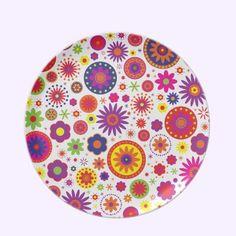Hippy Rainbow Flowers Party Plates $28.10
