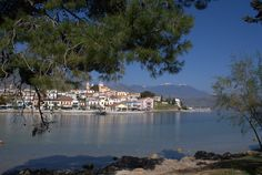 Beautiful Galaxidi. A popular historical fishing village located in Central Greece on the Corinthian Gulf
