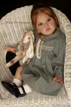 Волшебной красоты девочка реборн Mattia от Анны Арутюнян / Куклы Реборн: изготовление своими руками, фото, мастера / Бэйбики. Куклы фото. Одежда для кукол Bb Reborn, Reborn Toddler Dolls, Silicone Reborn Babies, Reborn Dolls, Baby Dolls, Baby Doll Strollers, Girl Outfits, Daughter, Log Projects