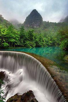 Libo, Guizhou, China. Awesome waterfall. #nature #China #waterfall