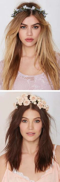 Work those goddess vibes in this summer-perfect flower crowns @NastyGal