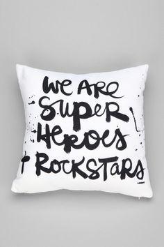 Kal Barteski For DENY Superheroes Pillow. urban Outfitters