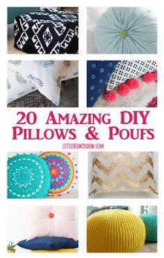 20 amazing DIY Pillows & Poufs   littleredwindow.com