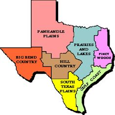 Regions of Texas; a good addition to the 'all about Texas' unit