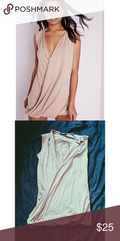 Amazing NWOT Drape Dress NWOT amazing drape dress from Missguided. I own this same dress in 2 different colors I'm so obsessed! Fits a size medium ASOS Dresses