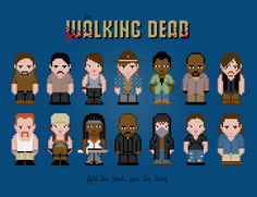 The Walking Dead - Season 5 and 6 - PixelPower - Amazing Cross-Stitch Patterns http://www.pixelpowerdesign.com/shop/tv/product/show/444-the-walking-dead-season-5-and-6
