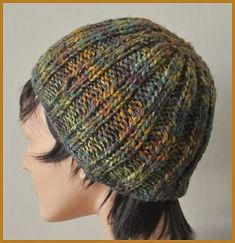 15 Free Hat Easy Patterns for adults : Knitting with one skein