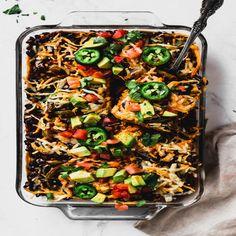 Vegan Enchilada Casserole, Vegan Enchiladas, Casserole Recipes, Enchilada Recipes, Curry Recipes, Vegan Recipes, Baked Pumpkin Oatmeal, Fajita Vegetables, Beet Salad Recipes