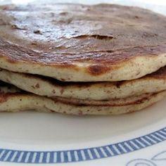 Almond Flour Pancakes - good with jam, plus scrambled eggs, yogurt, and fresh fruit