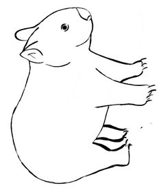 Wombat coloring page - Animals Town - animals color sheet - Wombat Aboriginal Painting, Dot Painting, Stone Painting, Animal Coloring Pages, Free Coloring Pages, Wombat Stew, Animal Crafts For Kids, Paper Crafts For Kids, Diy Artwork