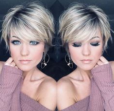 80 Bob Hairstyles To Give You All The Short Hair Inspiration - Hairstyles Trends Short Hairstyles For Thick Hair, Mom Hairstyles, Short Hair With Layers, Pretty Hairstyles, Short Hair Styles, Short Hair Cuts For Women Trendy, Style Short Hair, Short Sassy Hair, Natural Hair Styles For Black Women