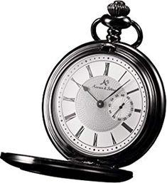Quartz Pocket Watch, Silver Pocket Watch, Vintage Watches, Antiques, Pocket Watches, Clocks, Roman, Yahoo, Steampunk