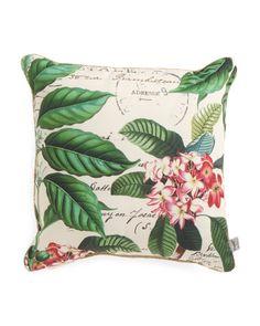 20x20+Indoor+Outdoor+Floral+Pillow