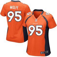 Women's Nike Denver Broncos #95 Derek Wolfe Limited Orange Team Color NFL Jersey Sale