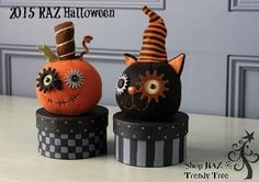 Great treat boxes for that extra touch for those special little tricksters))) From the 2015 RAZ Halloween Collection  - coming to Trendy Tree soon!
