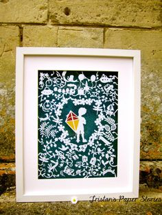 Here's one of my work, you can 'like' me on Facebook to see more of my work. #papercutting #papercutart #boy #children #homedecor #illustration