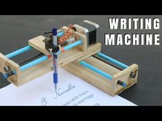 How To Make Homework Writing Machine at Home - YouTube