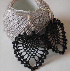 Pendientes de crochet-ganchillo Pendientes largos por lindapaula