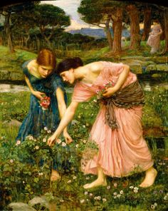 Gather Ye Rosebuds While Ye May reproduction procédé giclée par John William Waterhouse sur AllPosters.fr