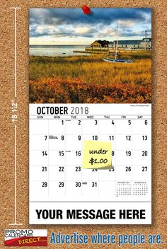 2021 Atlantic Canada Wall Calendars with your Business Name & Logo - low as Advertise in the homes and offices of people in your area all year! Marketing Approach, Atlantic Canada, Viral Marketing, Business Organization, Promote Your Business, Trail, Calendar, Advertising, Strong