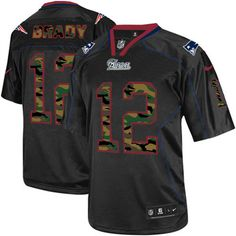 Men s Nike New England Patriots  12 Tom Brady Elite Black Camo Fashion NFL  Jersey www f8b06ed7f