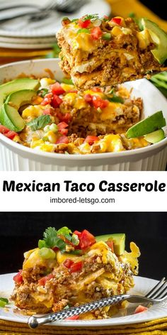 Yummy, cheesy, spicy goodness in one comforting casserole.  Flexible enough to add your favorite ingredients.  #mexican #casserole