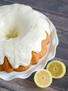 Absolutely heavenly lemon cake with lemon cream cheese frosting. A perfect spring cake recipe.