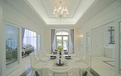 European style villa minimalist dining room interior design