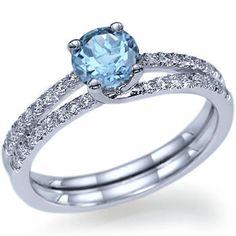 1.30 carats Round Real Natural Aquamarine Diamond by ldiamonds, $790.00