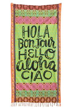 """Say """"hola, vacation!"""" with this fun beach towel."""