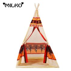 Cheap teepee play tent, Buy Quality teepee play directly from China play tent Suppliers: children indian toy teepee play tent portable playhouse decoration tipi kids indoor game room outdoor tourist playpen gift