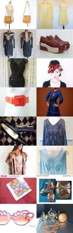 Vintage Fashion Finds Team Love Daily Treasury by Tracy B on Etsy--Pinned+with+TreasuryPin.com