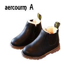 Hot Item $7.90, Buy Aercourm A 2017 Autumn Winter New Comfortable Retro Girls boots Leather Martin Boys Boots Kids Boots England Children Shoes