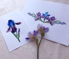 Irises #tattoo #tattoosketch #watercolor #watercolorflowers #watercolortattoo…