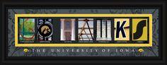 Iowa Hawkeyes Letter Art Print - Go Hawks Z157-4865501584