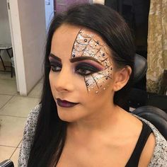 "Glam Spider Web Makeup for Pretty Halloween Makeup Ideas #""makeuplooksglam"""