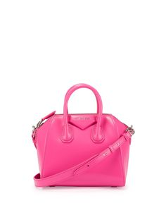 Antigona+Mini+Box+Calfskin+Satchel+Bag,+Bright+Pink+by+Givenchy+at+Neiman+Marcus.
